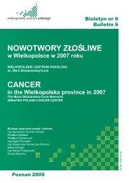 Biuletyn nr 6 - Wielkopolskie Centrum Onkologii
