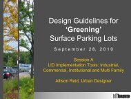 'Greening' Surface Parking Lots - Credit Valley Conservation