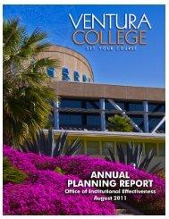 Annual Planning Report, August 2011 - Ventura College