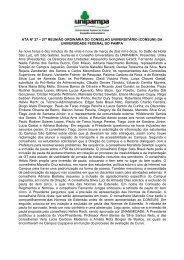 Ata 27ª Reunião Ordinária – São Gabriel - Reitoria - Unipampa