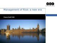 Management of Risk: a new era - Best Management Practice