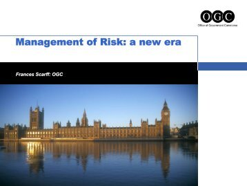 Management of Risk: a new era - Best Management Practice