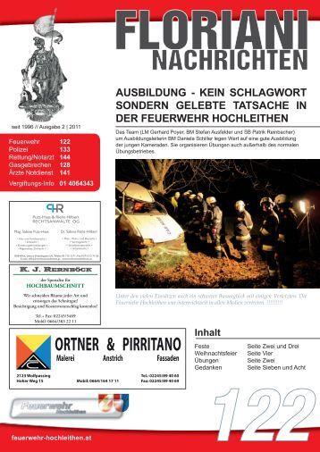 4/2011 - Freiwillige FEUERWEHR   Hochleithen