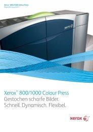 Xerox® 800/1000 Colour Press Gestochen scharfe Bilder. Schnell ...