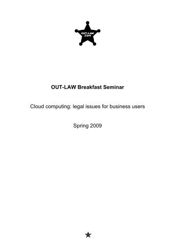 OUT-LAW Breakfast Seminar Cloud computing: legal ... - Out-Law.com