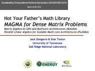 Not Your Father's Math Library MAGMA for Dense Matrix Problems