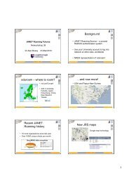 and now more! Recent JANET Roaming history New JRS maps