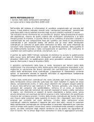 NOTA METODOLOGICA - Istat.it