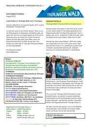 Newsletter des Regionalverbundes - Ausgabe 8 ... - Thüringer Wald