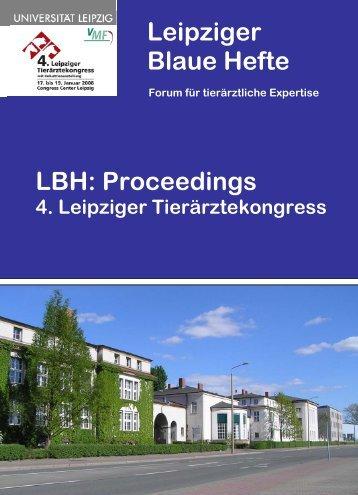 Leipziger Blaue Hefte LBH - Veterinärmedizinische Fakultät der ...