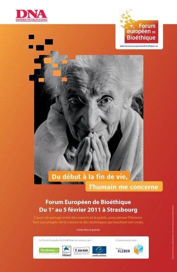 Programme - Forum Européen de Bioéthique