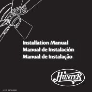 Installation Manual Manual de Instalación Manual de ... - Hunter Fan