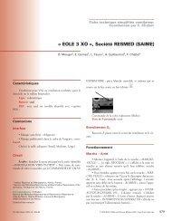 « EOLE 3 XO », Société RESMED (SAIME) - SPLF