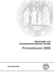Promotionen 2008 - Universität zu Köln