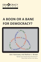 A BOON OR A BANE FOR DEMOCRACY? - Democracy Project