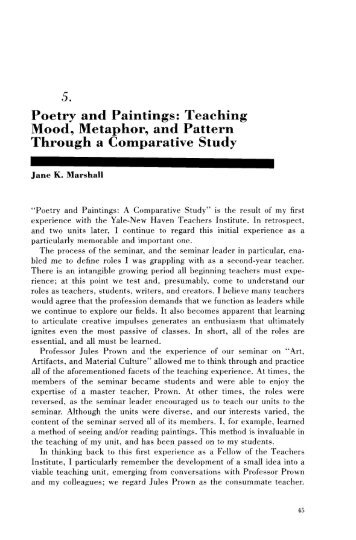 Teaching Mood, Metaphor, and Pattern Through a Comparative Study
