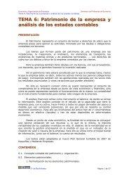 TEMA 6: Patrimonio de la empresa y análisis de ... - Ecobachillerato