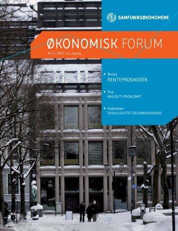Okoforum nr 2-07 - Samfunnsøkonomene