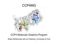 Stuart McNicholas: ccp4mg - York Structural Biology Laboratory ...