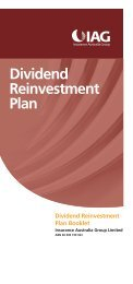 Dividend Reinvestment Plan - IAG