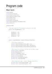 Appendix D Program code - Certec