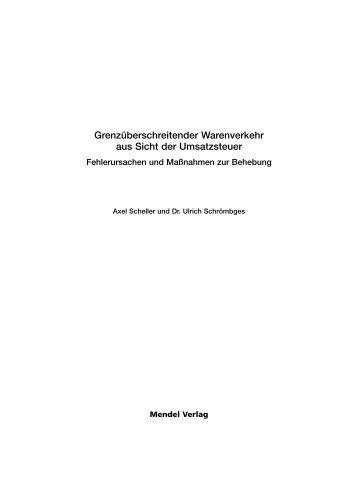 Grenzüberschreitender Warenverkehr aus Sicht der Umsatzsteuer ...
