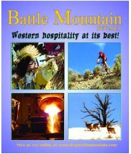 Battle mountain visitors guide 2006.qxd - Chamber Organizer
