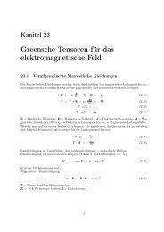 Greensche Tensoren für das elektromagnetische Feld