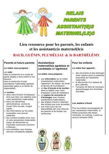 Lieu ressource pour les parents, les enfants et les ... - Mairie de Baud