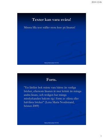Forts. - Pedagog Stockholm