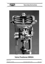 Valve Positioner BR824 - Arca-Regler GmbH