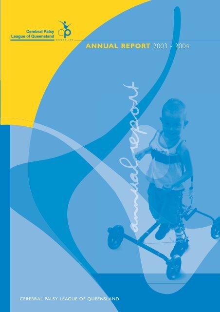CPLQ Annual Report final art.indd - Cerebral Palsy League