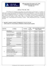 EDITAL VESTIBULAR JANEIRO DE 2013 - Universidade Católica ...