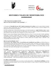 HISTOIRES VRAIES DE MEDITERRANEE - Marseille Provence 2013