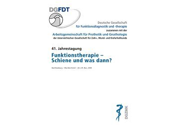 41. Jahrestagung - Deutsche Gesellschaft für Funktionsdiagnostik ...