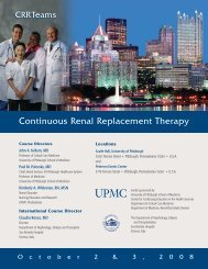 Continuous Renal Replacement Therapy - CCEHS