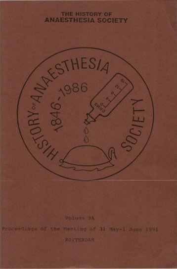 3 - History of Anaesthesia Society
