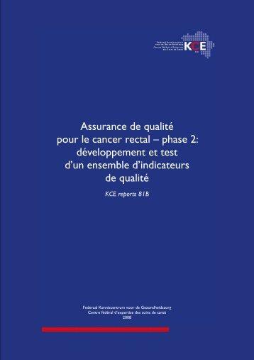 Assurance de qualité pour le cancer rectal – phase 2 ...
