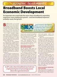 Broadband Boosts Local Economic Development
