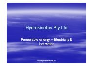 Hydrokinetics Pty Ltd - Clean Technology Australasia
