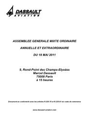 ASSEMBLEE GENERALE MIXTE ORDINAIRE - Dassault Aviation