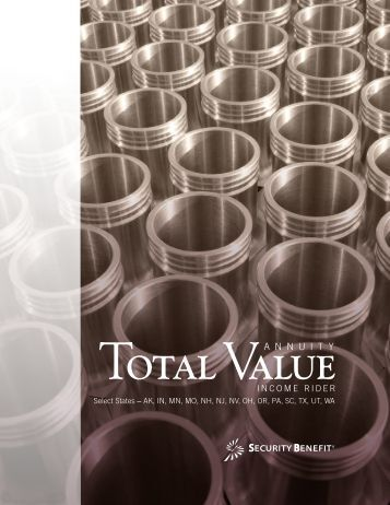 Income Rider Brochure - Total Value Annuity