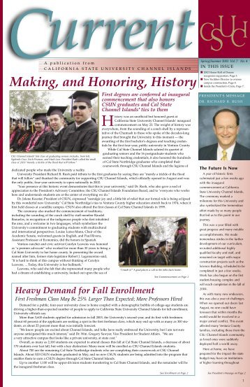 Making, and Honoring, History - CSU Channel Islands