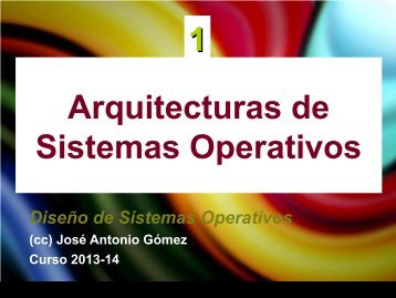 Arquitecturas de Sistemas Operativos 1