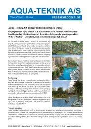 Danish Press Release, 9th June 2006 - aqua-teknik a/s