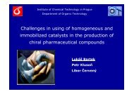 Challenges in using of homogeneous and immobilized catalysts in ...