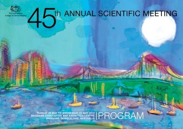 ASM 2012 Final Program - Australasian College of Dermatologists