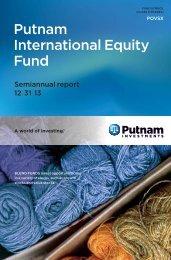 International Equity Fund Semi-Annual Report - Putnam Investments