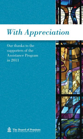 With Appreciation - Board of Pensions