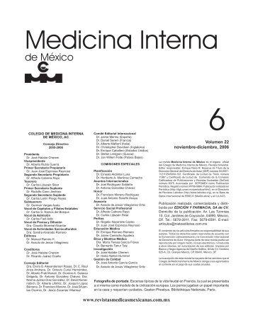 Noviembre-Diciembre - Colegio de Medicina Interna de México